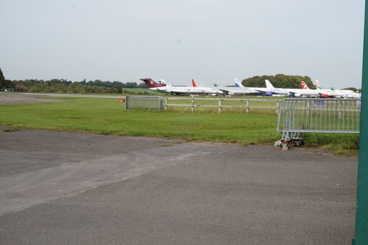 Retired planes at Kemble Cotswold Airport. Aircraft Graveyard